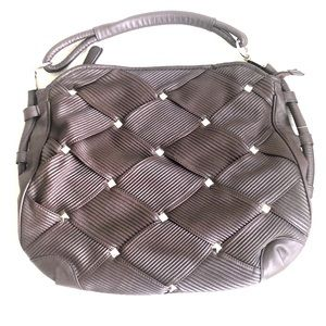 Nicole Lee Quilted & Studded Hobo Bag